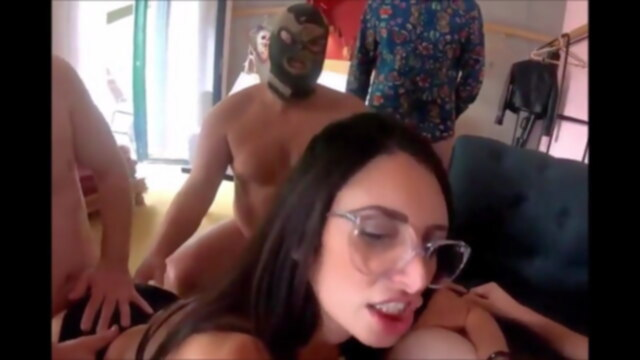 6 bites pour.. group sex french gangbang