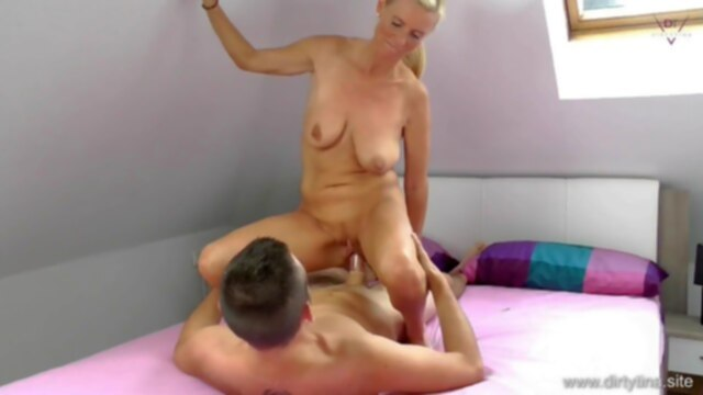 I cum on you.. german blonde mom